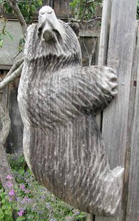 chainsaw bear sculpture