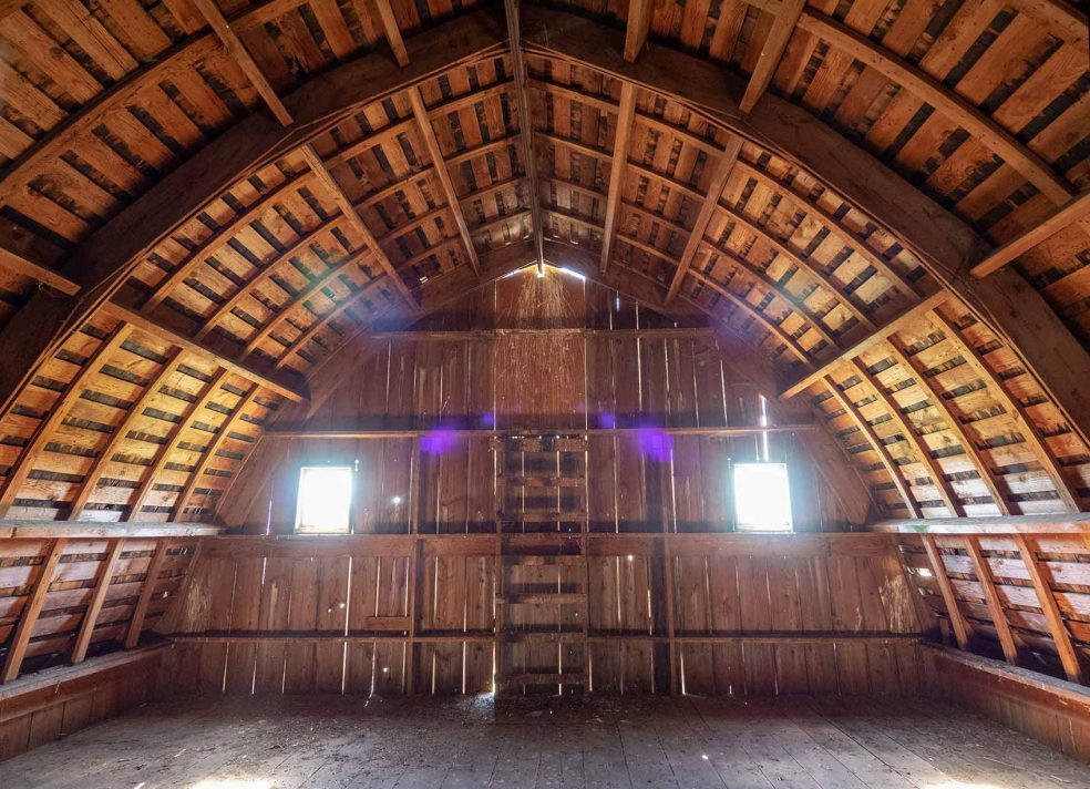 Oregon Barn Framed With 1″ Lumber
