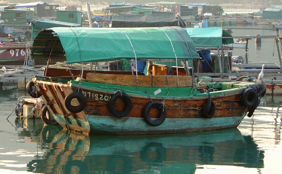 Cargo Boat in Hong Kong