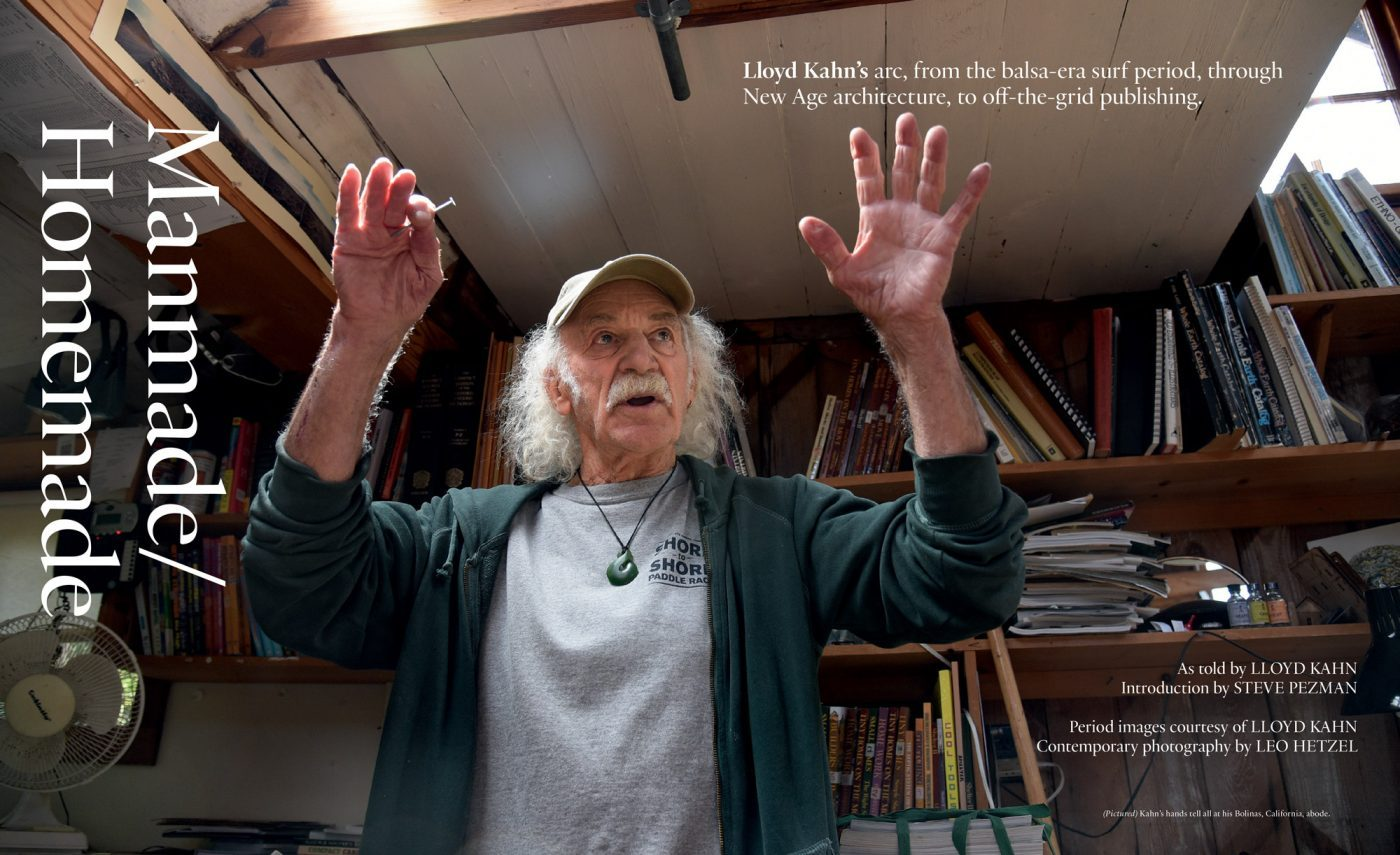 Article on Lloyd Kahn in Surfer's Journal